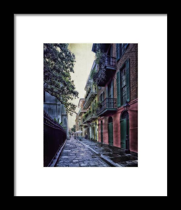 New Orleans Framed Print featuring the photograph Pirate's Alley In New Orleans by Mountain Dreams