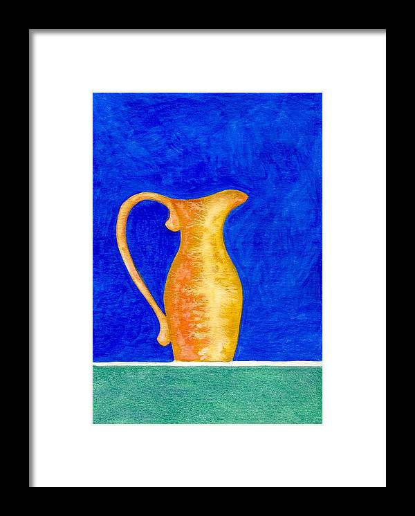 Still Life Framed Print featuring the painting Pitcher 2 by Micah Guenther