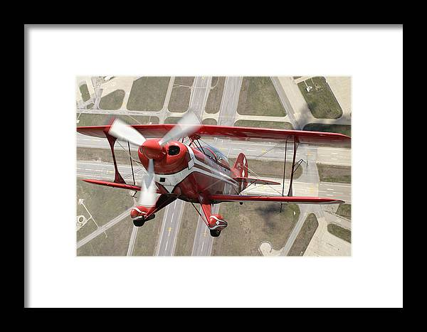 Pitts Special S-2b Framed Prints Framed Print featuring the photograph Pitts Special S-2b by Larry McManus