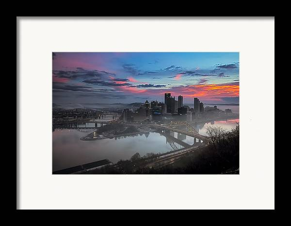 Pittsburgh Framed Print featuring the photograph Pittsburgh January Thaw by Jennifer Grover