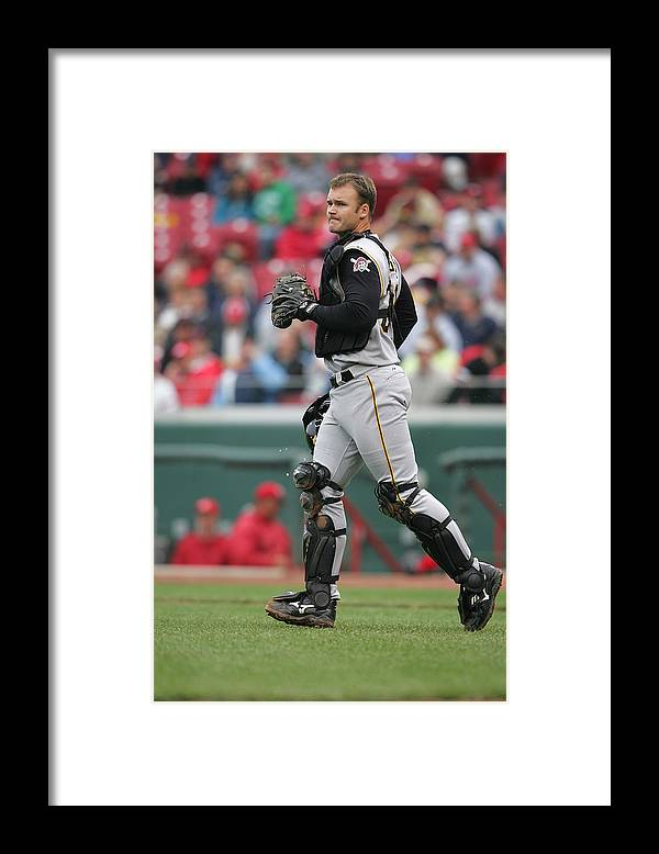 Great American Ball Park Framed Print featuring the photograph Pittsburgh Pirates v Cincinnati Reds by Andy Lyons