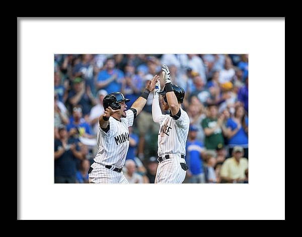 Three Quarter Length Framed Print featuring the photograph Pittsburgh Pirates V Milwaukee Brewers by Tom Lynn