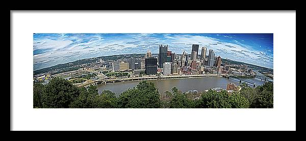 Panorama Framed Print featuring the photograph Pittsburgh Skyline by Brian Archer