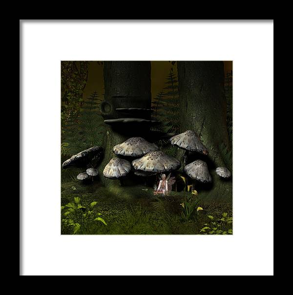 Fantasy Framed Print featuring the digital art Pixie Glenn by David Griffith