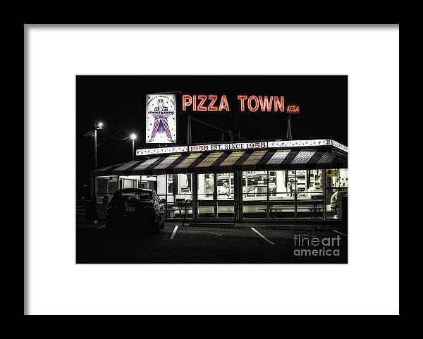 New Jersey Framed Print featuring the photograph Pizza Town by Jerry Fornarotto