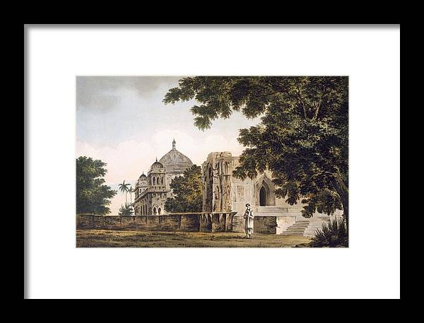 Landscape Framed Print featuring the drawing Pl. 18 A View Of The Mosque by William Hodges