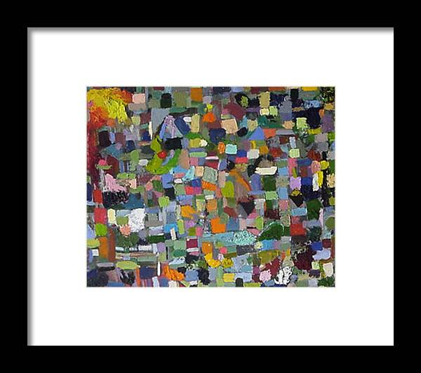 Abstract Paintings Framed Print featuring the painting Plaid Number 1 by David Zimmerman