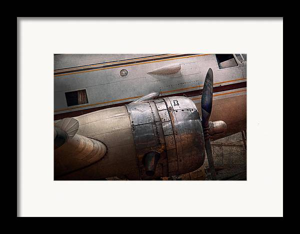 Plane Framed Print featuring the photograph Plane - A Little Rough Around The Edges by Mike Savad