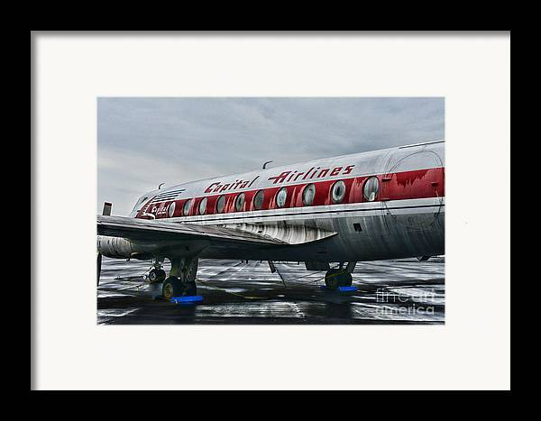 Paul Ward Framed Print featuring the photograph Plane Obsolete Capital Airlines by Paul Ward
