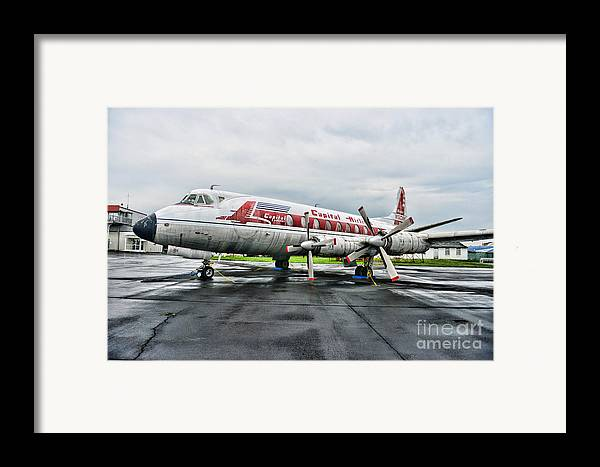 Paul Ward Framed Print featuring the photograph Plane Props On Capital Airlines by Paul Ward
