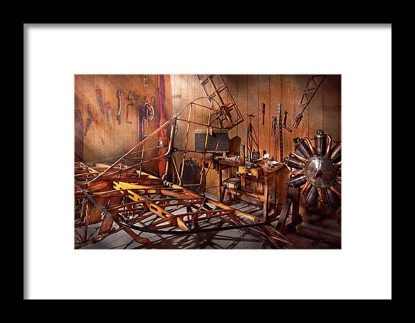 Savad Framed Print featuring the photograph Plane - The Dawn Of Aviation by Mike Savad
