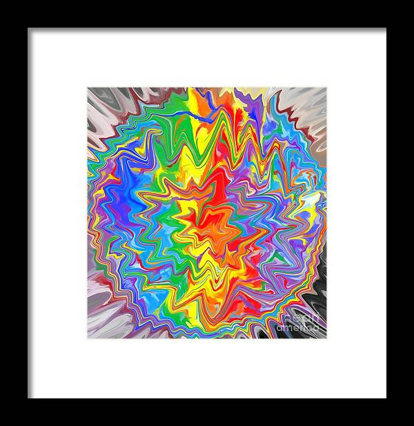 Planet Framed Print featuring the digital art Planet Funk 3 by Chris Butler