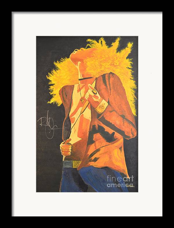 Robert Plant Framed Print featuring the painting Plant II by Stuart Engel