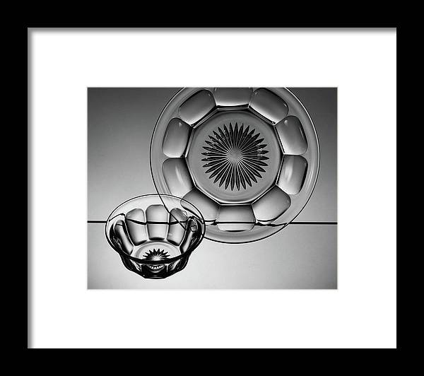 Home Accessories Framed Print featuring the photograph Plate And Bowl by Martinus Andersen