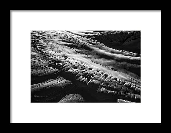 Black And White Framed Print featuring the photograph Play Of Light And Shadow. by Fred Denner