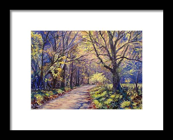 Bonnie Mason Framed Print featuring the painting Play Of Light by Bonnie Mason