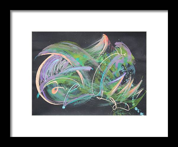 Abstract Painting Framed Print featuring the painting Playing In The Universe by Asha Carolyn Young