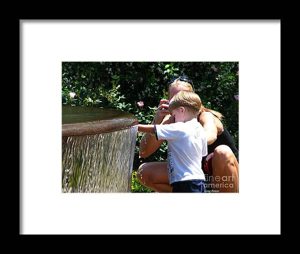 Art For The Wall...patzer Photography Framed Print featuring the photograph Playing In Water by Greg Patzer