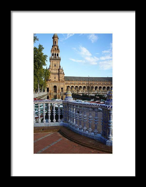 Seville Framed Print featuring the photograph Plaza De Espana by Jenny Hudson