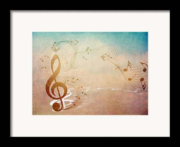 Music Framed Print featuring the mixed media Please Dont Stop The Music by Angelina Vick