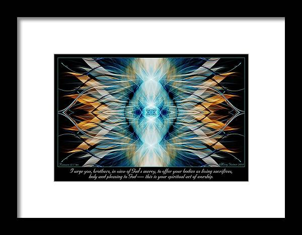 Fractal Framed Print featuring the digital art Pleasing To God by Missy Gainer