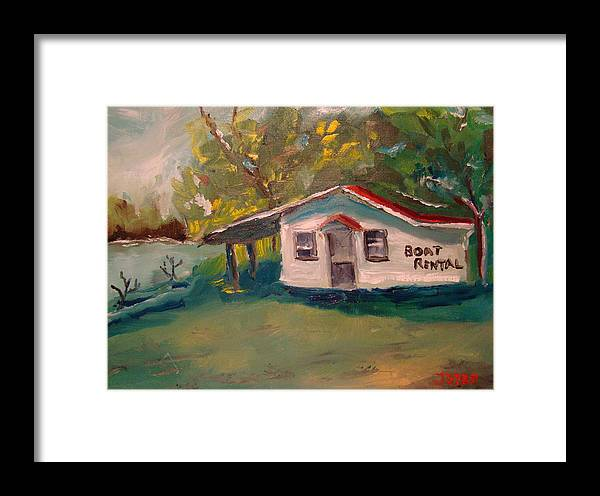 Landscapes Framed Print featuring the painting Plein Air Study Worms And Crickets by Joe Byrd
