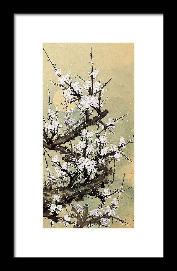Chinese Culture Framed Print featuring the digital art Plum Blossom by Vii-photo