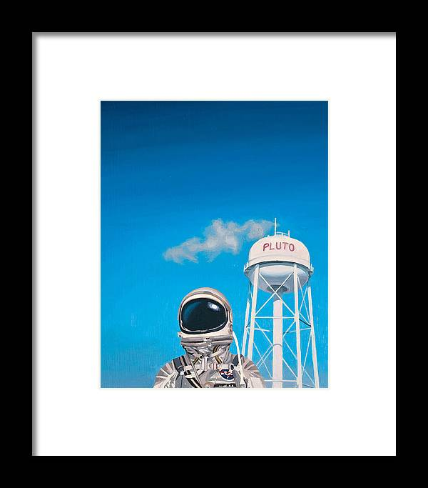 Astronaut Framed Print featuring the painting Pluto by Scott Listfield