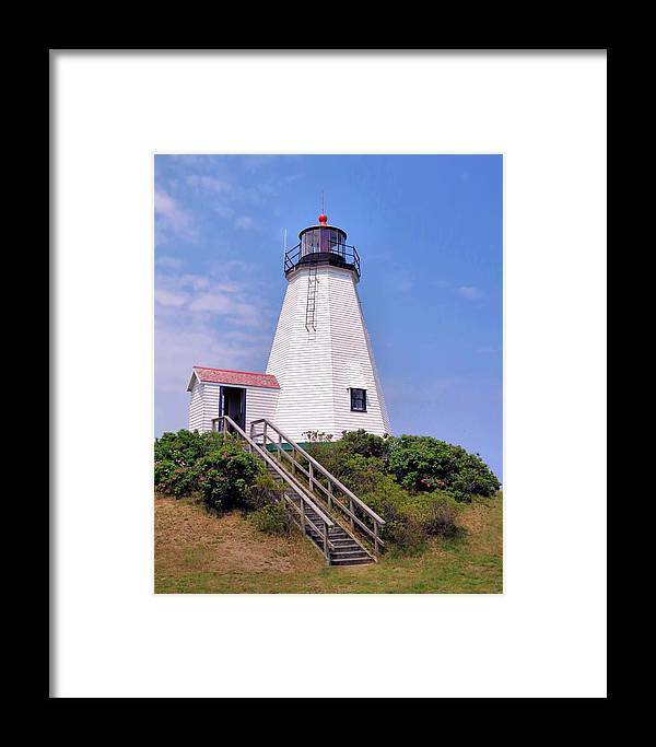 Lighthouses Framed Print featuring the photograph Plymouth Light by Janice Drew