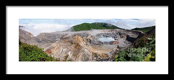 Beauty Framed Print featuring the photograph Poas Volcano Crater by Oscar Gutierrez