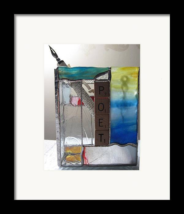 Framed Print featuring the painting Poet Windowsill Box by Karin Thue