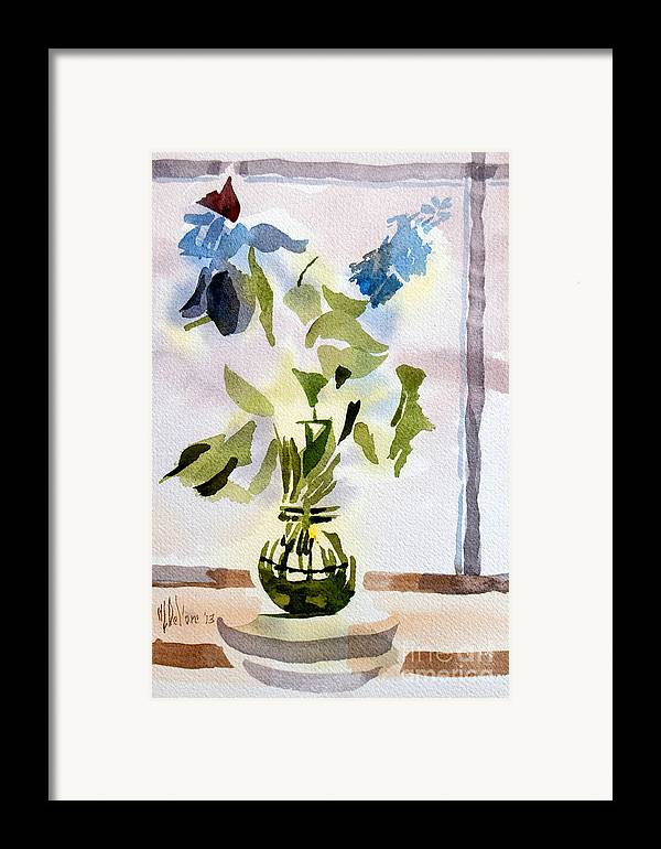 Poetry In The Window Framed Print featuring the painting Poetry In The Window by Kip DeVore