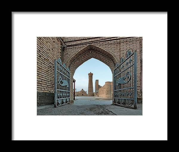 Tranquility Framed Print featuring the photograph Poi Kalyan Square by Elena Liseykina