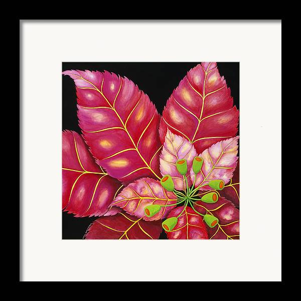 Acrylic Framed Print featuring the painting Poinsettia by Carol Sabo