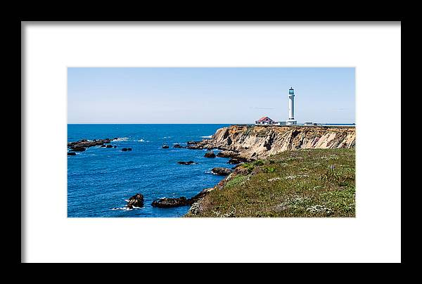 Lighthouse Framed Print featuring the photograph Point Arena Lighthouse by Mike Ronnebeck