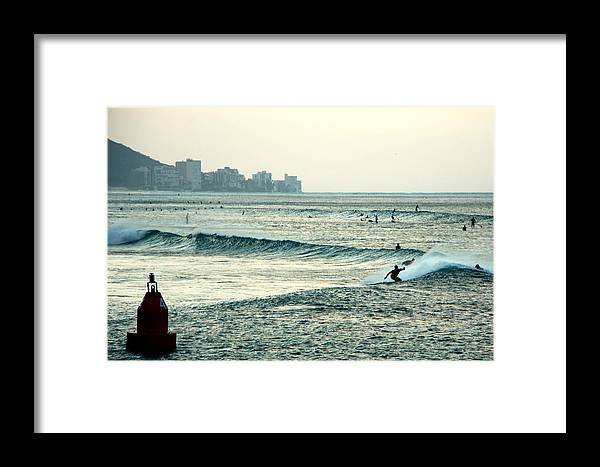 Surfers Framed Print featuring the photograph Point Panic by S Matthew Wehe