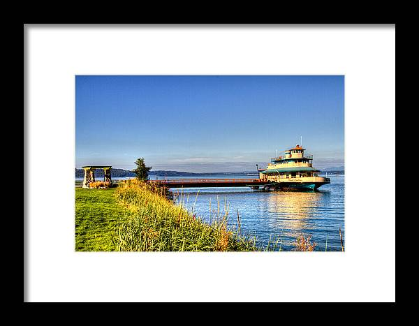 Puget Sound Framed Print featuring the photograph Point Ruston Ship by Rob Green