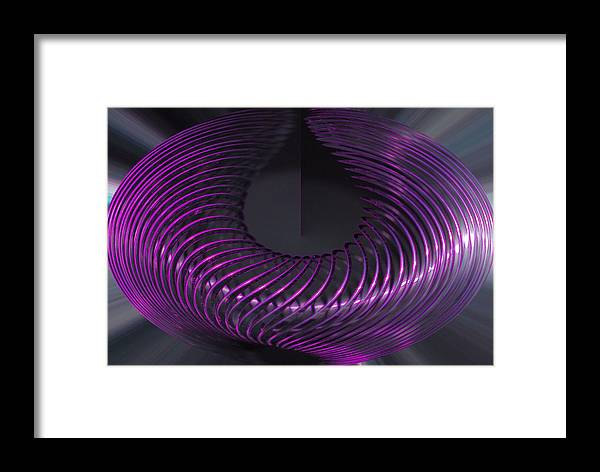 Slinky Framed Print featuring the photograph Polar Ring by Paulina Roybal