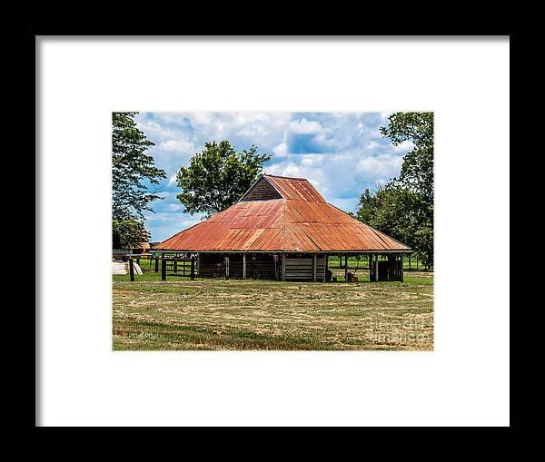 Bindery Framed Print featuring the photograph Pole Barn by Ken Frischkorn