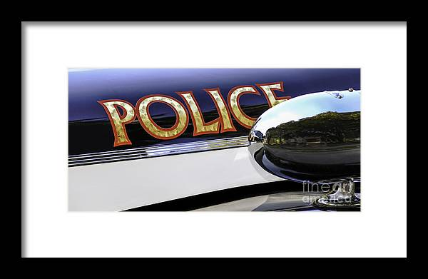 Police Framed Print featuring the photograph Police Car by Phil Cardamone