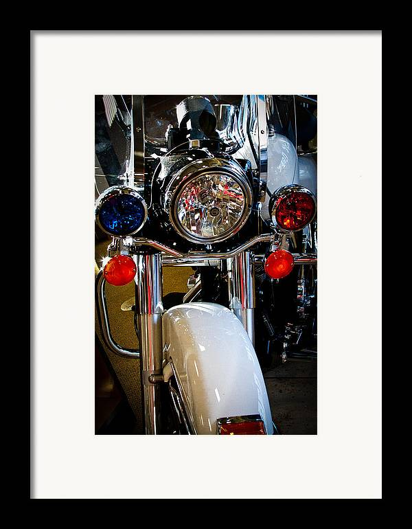 Classic Cycle Framed Print featuring the photograph Police Harley by David Patterson