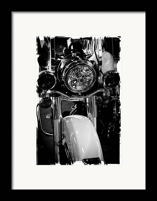 Classic Cycle Framed Print featuring the photograph Police Harley II by David Patterson