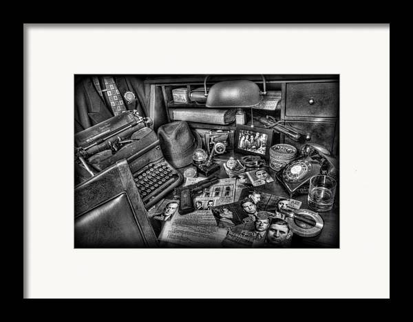 Police Framed Print featuring the photograph Police Officer - Chasing The American Gangster II by Lee Dos Santos
