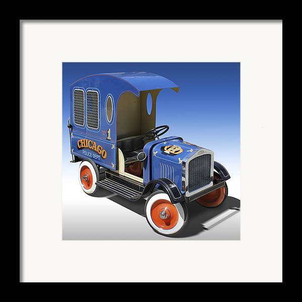 Peddle Car Framed Print featuring the photograph Police Peddle Car by Mike McGlothlen