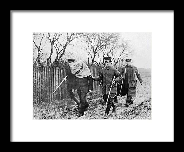 1910's Framed Print featuring the photograph Polish Man Arrested By Germans by Underwood Archives