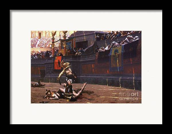Pd Framed Print featuring the painting Pollice Verso by Pg Reproductions
