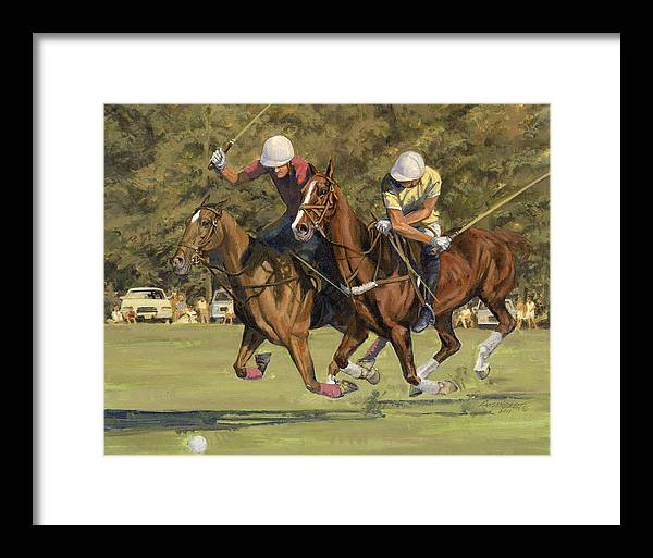 Polo Match by Don  Langeneckert