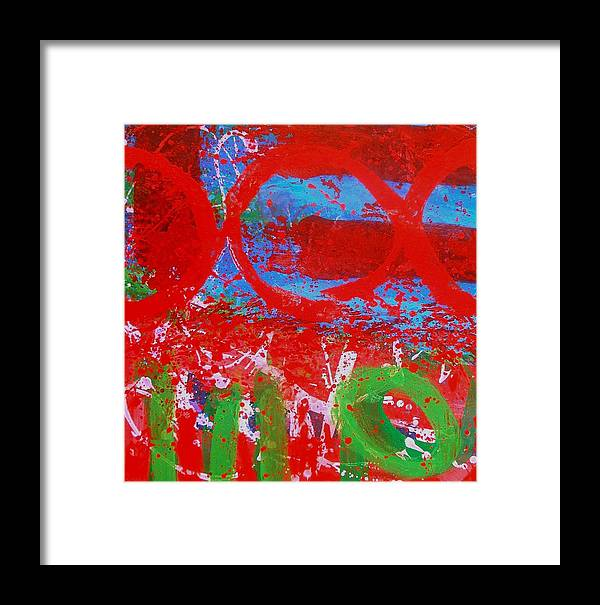Abstract Framed Print featuring the painting Polyphony I by John Nolan