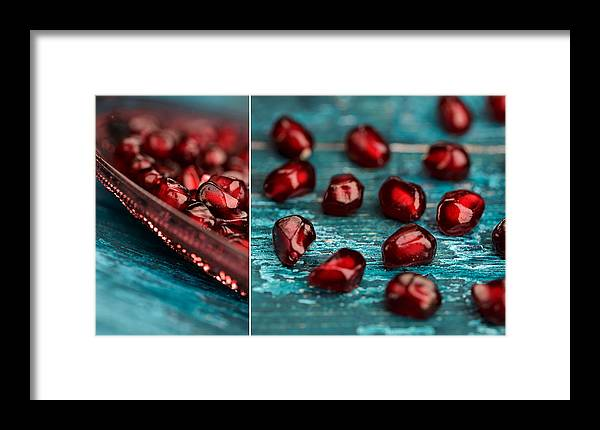 Pomegranate Framed Print featuring the photograph Pomegranate Collage by Nailia Schwarz
