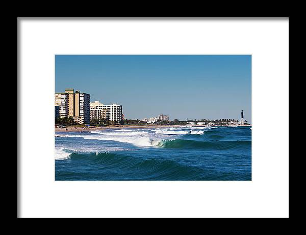 Tranquility Framed Print featuring the photograph Pompano Beach, Florida, Exterior View by Walter Bibikow